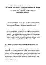 Stellungnahme des Landespräventionsrates ... - Daniela Behrens