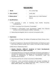 resume - Andhra Pradesh Academy of Rural Development(APARD)