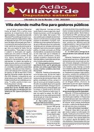 Villa defende malha fina para gestores públicos - Adão Villaverde