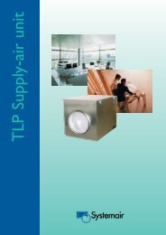 Supply-air unit Systemair TLP Technical booklet