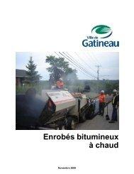 Enrobés bitumineux à chaud - Ville de Gatineau