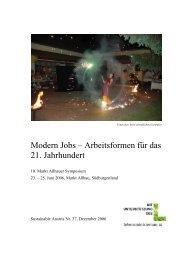 Modern Jobs – Arbeitsformen für das 21. Jahrhundert