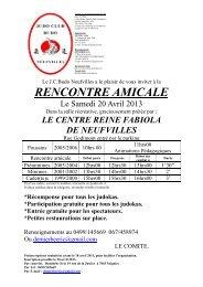 RENCONTRE AMICALE - Judo Club Ippon Soignies - Judo Club ...