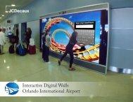 Interactive Digital Walls Orlando International Airport