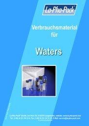 Verbrauchsmaterial für - Markus Bruckner Analysentechnik