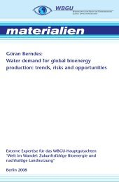 Water demand for global bioenergy production: trends, risks ... - WBGU