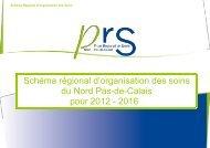 Schéma régional d'organisation des soins du Nord Pas-de-Calais ...