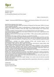 Rif. FIPER_ Trasmissione Report RAI 3 biomasse di massa