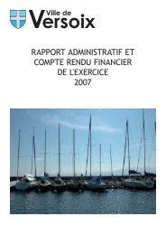 Télécharger le Compte rendu administratif et financier 2007 - Versoix