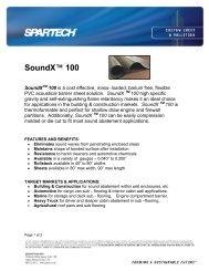 SoundX™ 100 - Spartech Corporation