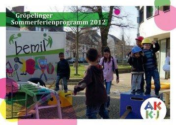 Gröpelinger Sommerferienprogramm 2012 - Gesundheitstreffpunkt ...