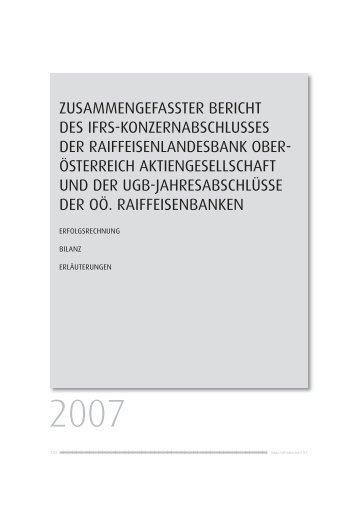 Zusammengefasster Bericht - Geschäftsbericht 2007