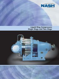 Liquid Ring Compressors Single Stage and Two Stage