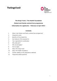 PFCC Applicants' guidance February 2012 - Health Foundation