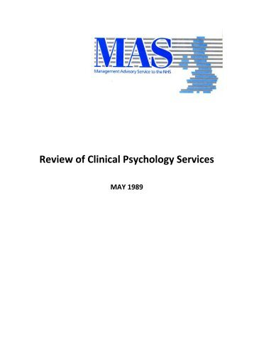 Review of Clinical Psychology Services - Management Advisory ...