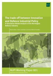 The trade-off between Innovation and Defence Industrial - NUPI