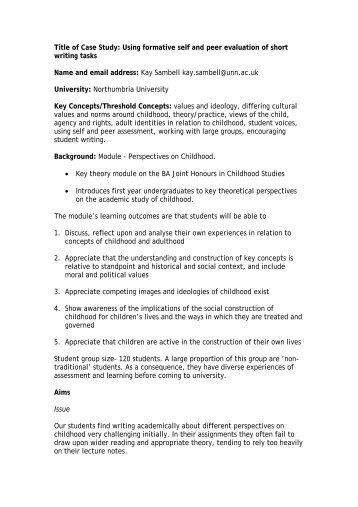 short evaluation essay