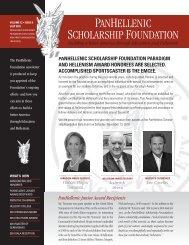 July 2010 Newsletter - PanHellenic Scholarship Foundation
