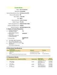 Complete Biodata II. Details of Central Deputation III.Educational ...