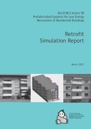 Retrofit Simulation Report - Energy Conservation in Buildings