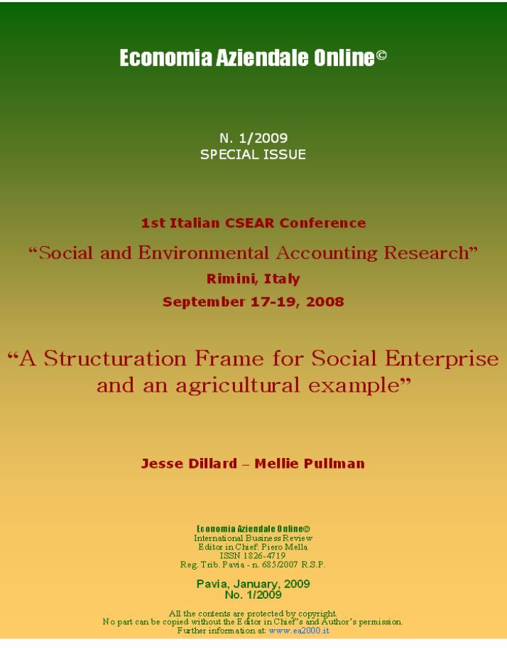 environmental accounting research paper