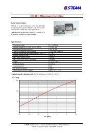 DM311 Microwave Detector Datasheet - S-TEAM Lab