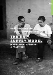 The KAP survey model (Knowledge, Attitude & Practices