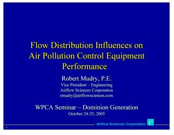Flow Distribution Influences on Air Pollution Control ... - Wpca.info