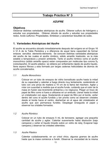 TP 3 Azufre con inf.. - Departamento de Química Inorgánica ...
