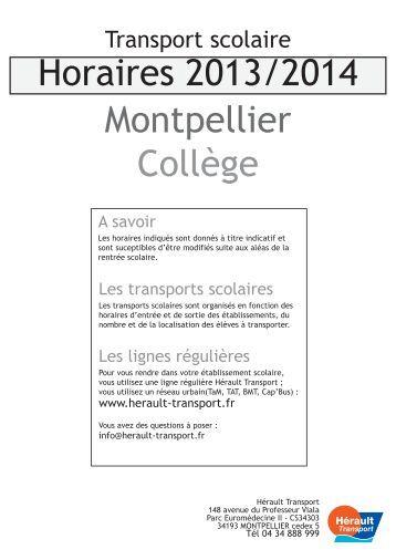 Ligne 194 montpellier lyc - Vir transport montpellier ...