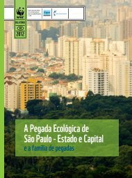 São Paulo - estado e capital A Pegada ecológica de