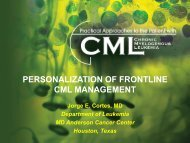 personalization of frontline cml management - Educational Concepts ...