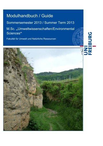 Modulhandbuch SoSe 2013 - M.Sc. Umweltwissenschaften ...