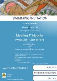 SWIMMING INVITACION - Nuoto Center Forlì