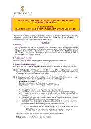 bases del i concurs de cartells per la campanya de sensibilització ...