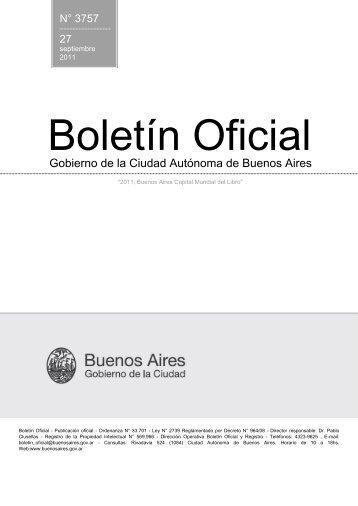 N° 3757 del 27/09/2011 - Boletín Oficial del Gobierno de la Ciudad ...