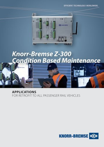 Knorr-Bremse Z-300 Condition Based Maintenance