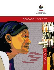 Research Report 2006/2007 - University of KwaZulu-Natal