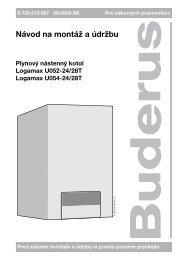 U052T / U054T návod na montáž a údržbu - kotol-kotly.sk