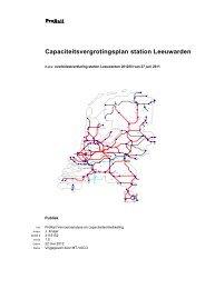 Capaciteitsvergrotingsplan station Leeuwarden - ProRail