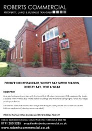 0191 280 3285 enquiries@robertscommercial.co.uk www ... - Caldes
