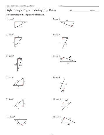 Trigonometry Ratios In Right Triangles Worksheet - Delibertad