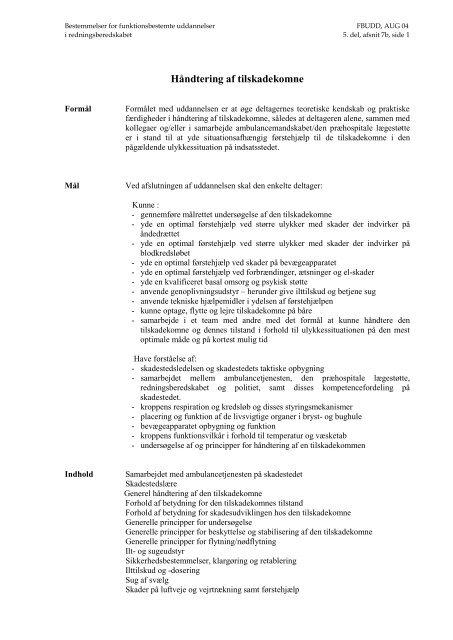 HÃ¥ndtering af tilskadekomne (pdf)