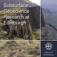 Subsurface Geoscience Research at Edinburgh
