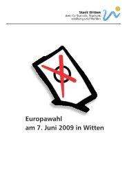 Europawahl am 7. Juni 2009 in Witten