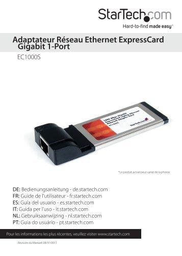 Adaptateur Réseau Ethernet ExpressCard Gigabit 1 ... - StarTech.com