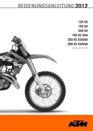 BEDIENUNGSANLEITUNG 2012 - KTM