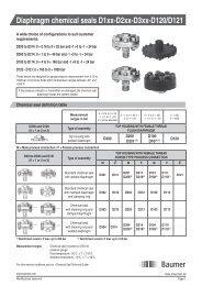 Diaphragm chemical seals D1xx-D2xx-D3xx-D120/D121 - Baumer