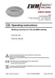 PICOTIG 180;PICOTIG 180 MV - Walsh Engineering Supplies