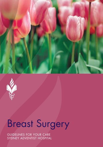 Breast Surgery Booklet - Sydney Adventist Hospital